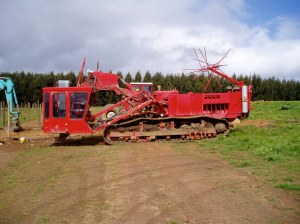 Mastenbroek subsurface subsoil drainage machine improving water-logged terrain