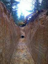 Pipeline/trench installation/construction for Margaret River waste water distribution